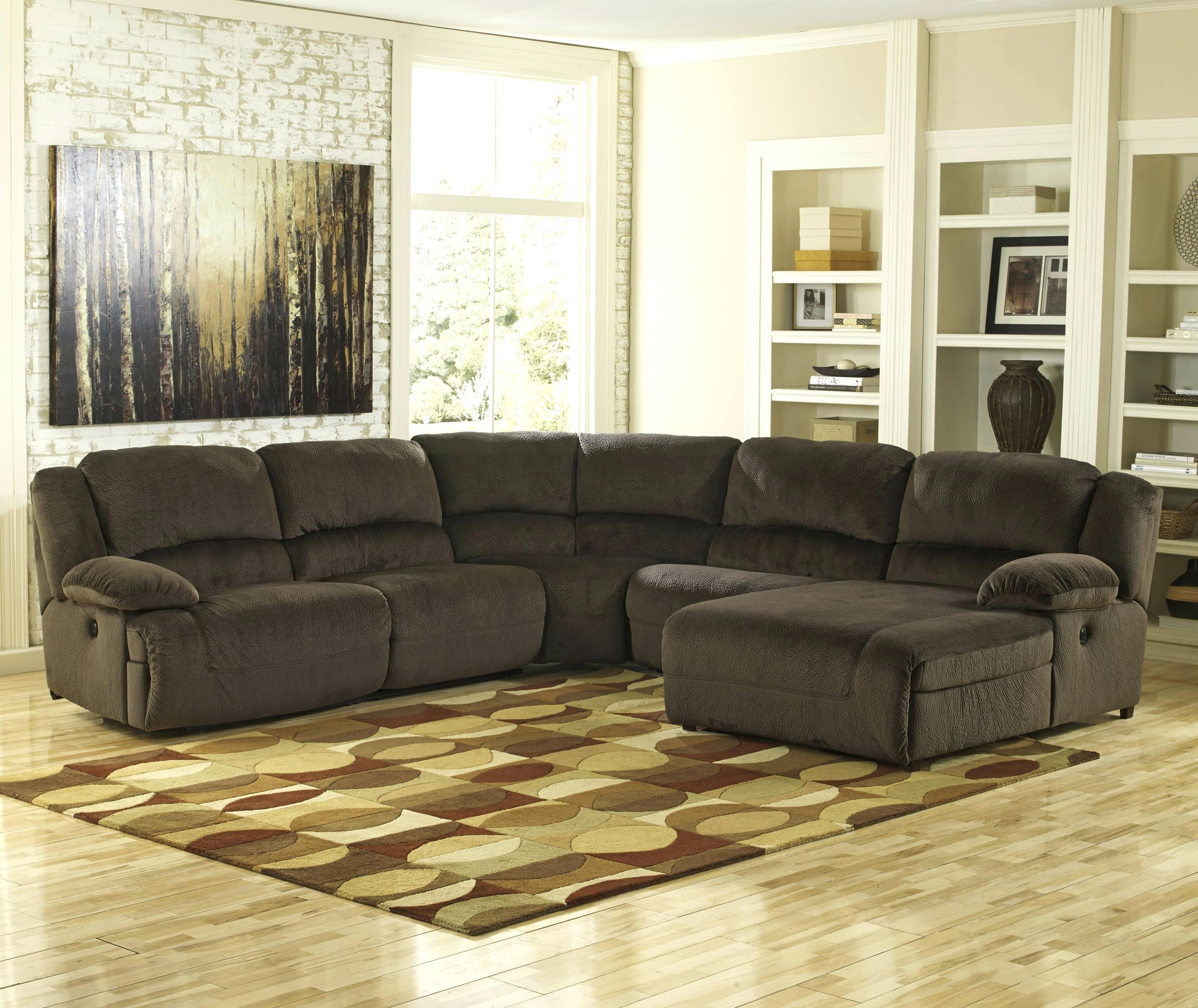 ashley furniture joliet il signature design by chocolate reclining sectional with right press back chaise ashley furniture near joliet il