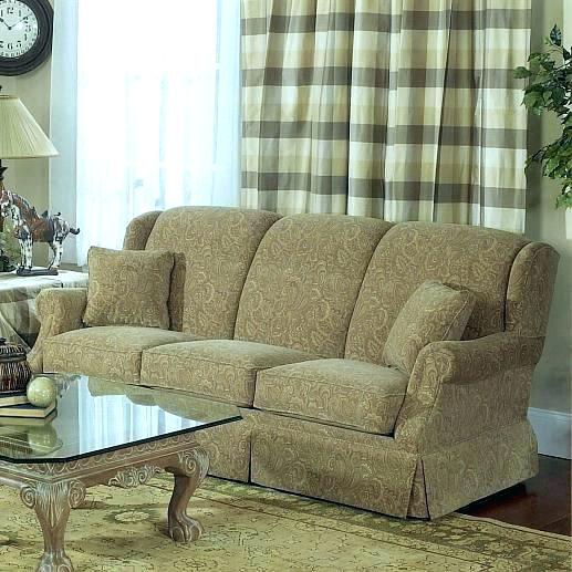 sheelys furniture furniture and appliance lancer traditional stationary sofa with tight back and skirted base furniture appliance furniture sheelys furniture north lima ohio