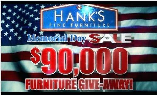 hanks fine furniture hanks fine furniture memorial weekend giveaway hanks fine furniture fort smith