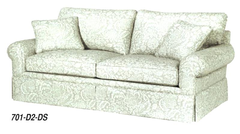hallagan furniture sofa with 2 cushions and dressmaker skirt hallagan furniture complaints