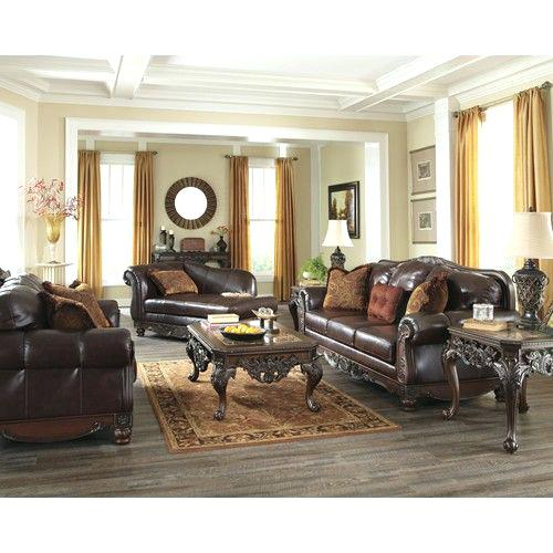 ashley furniture springfield il signature design by north shore plus coffee traditional in brown leather match furniture world love seat twin cities ashley home furniture springfield il