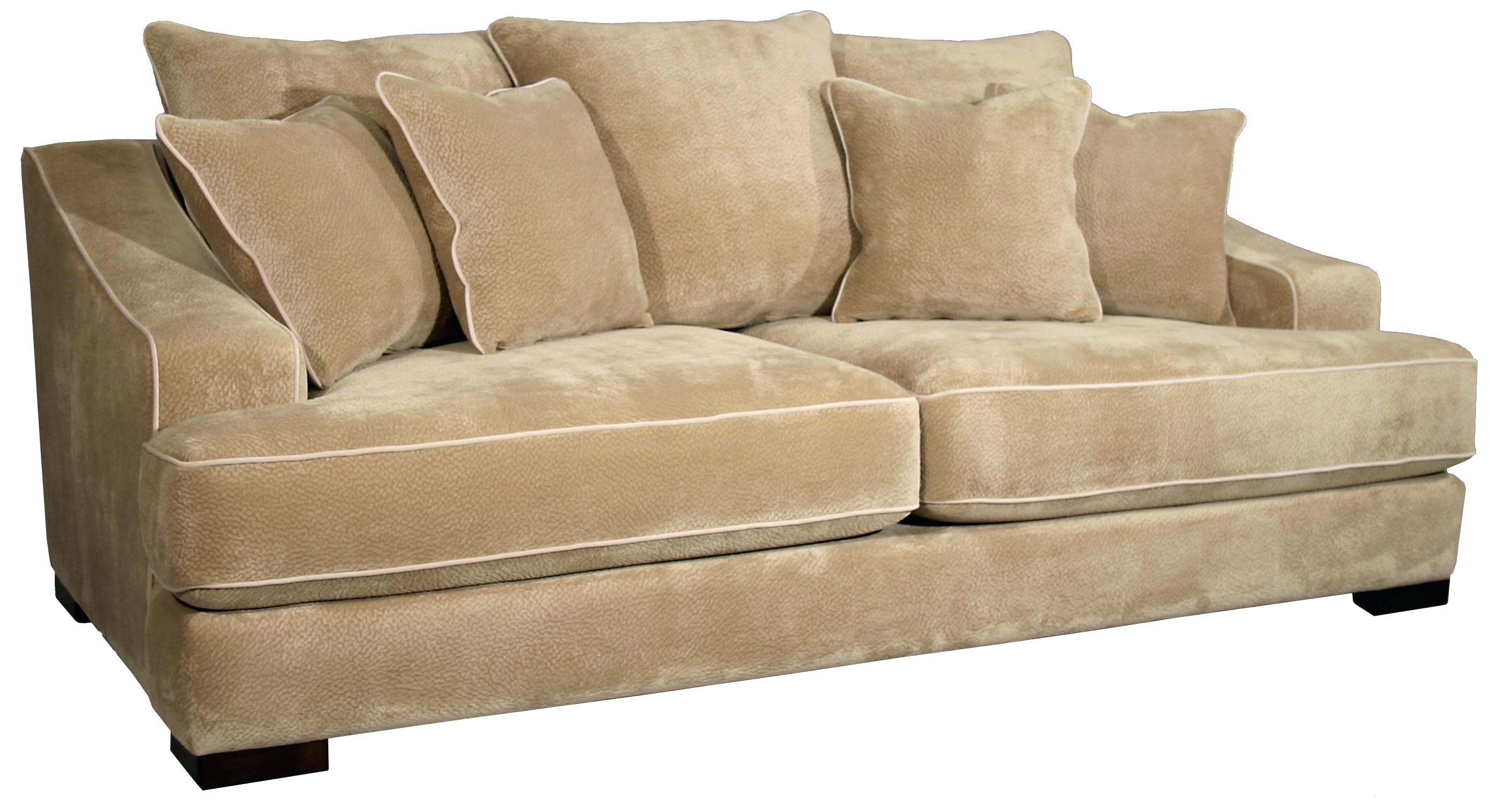 guildcraft furniture designs cooper minx mocha stationary sofa with back toss pillows american guild craft furniture