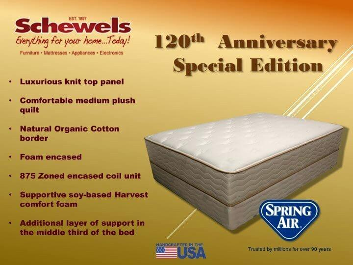 schewel furniture company spring air anniversary back supporter schewel furniture company south boston va