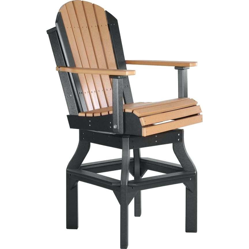 luxcraft furniture poly swivel chair cedar black luxcraft wood furniture