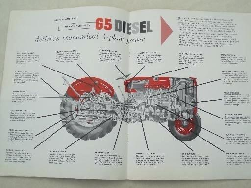 massey furniture barn diesel tractor advertising leaflet masseys furniture barn watertown new york